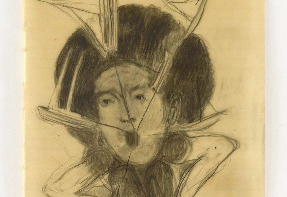 El grito de Olokum, 2019 Graphite on paper, wax 19.2 x 30.4 cm