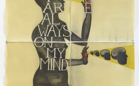 You are always on my Mind Drawing / Wachs, 2015, 4 pieces, each 106 x 78 cm