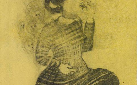 La Fresca, 2006 Grafit und Buntstift auf Papier in Bienenwachs